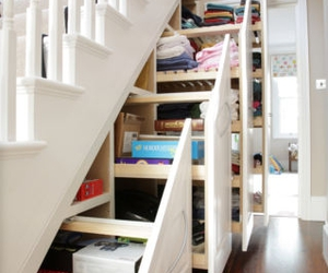 storage and under the stairs image