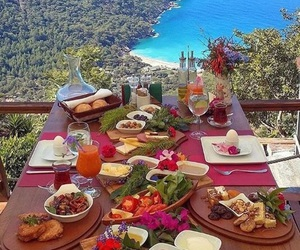 food, sea, and breakfast image