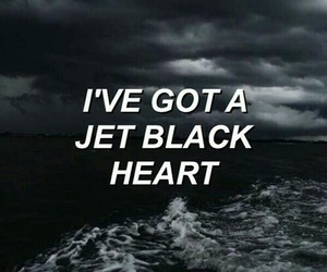 quotes, 5sos, and jet black heart image