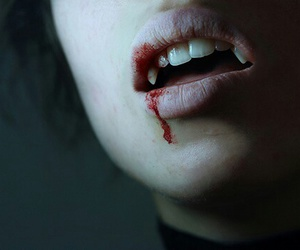 vampire, blood, and teeth image