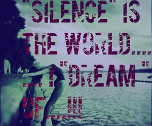 Dream, silence, and typography image