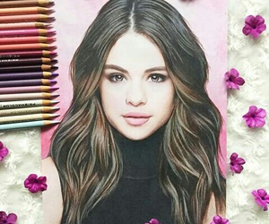 art and selena gomez image