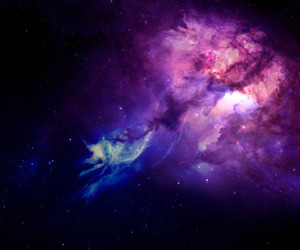 space, galaxy, and stars image