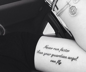 tattoo, angel, and quotes image