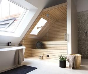 home, bathroom, and sauna image