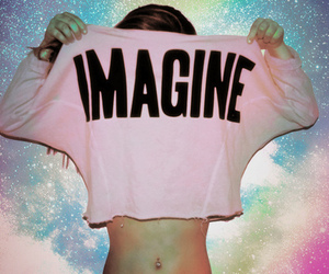 imagine, girl, and pink image