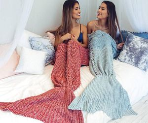 mermaid, best friends, and blue image