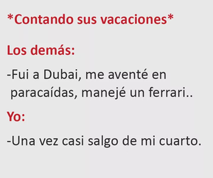 frases, vacaciones, and chistes image