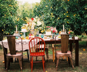 garden, vintage, and tree image