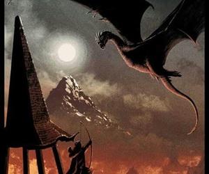 the hobbit, smaug, and fanart image