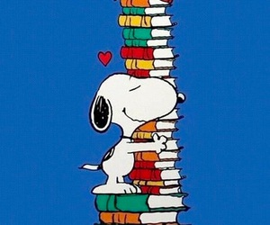 book and snoopy image