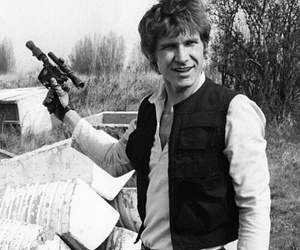 han solo, star wars, and harrison ford image