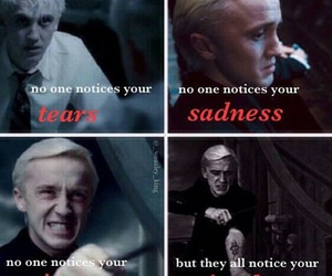 draco malfoy, harry potter, and tom felton image