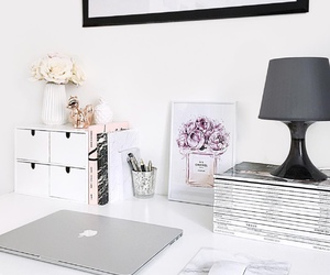 desk, home, and minimalist image