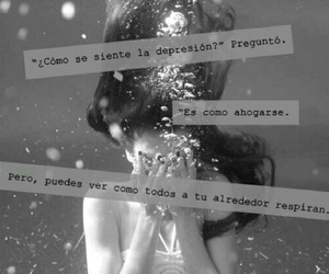 depression, drown, and frases image