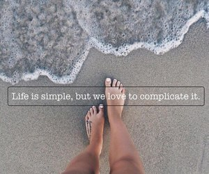 life, beach, and quote image