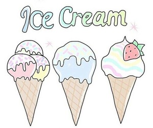 icecream, overlay, and transparent image