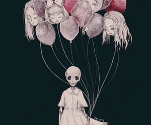 balloons and skull image