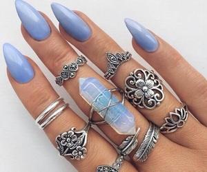 beauty, crystal, and nails image