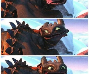 httyd, dragon, and toothless image