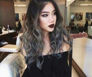 girl, lipstick, and pretty image