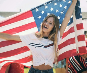 4th of july, america, and flag image