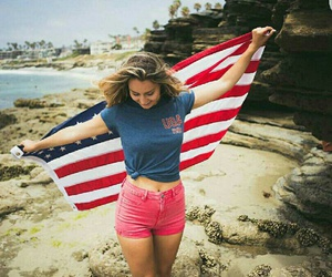 4th of july and american flag image