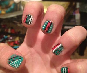 nails, tribal nails, and tribal image