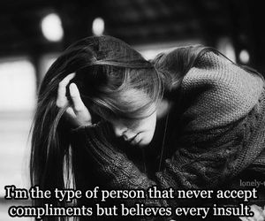 quotes, insult, and sad image