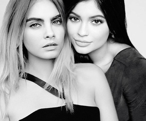 kylie jenner, model, and cara delevingne image