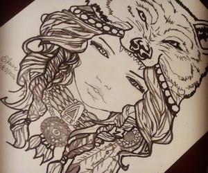 desenho, draw, and girl image