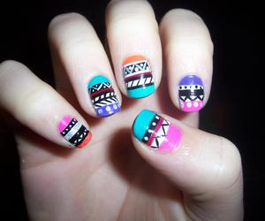 nails, tribal, and tribal nails image