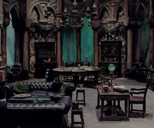 slytherin, harry potter, and room image