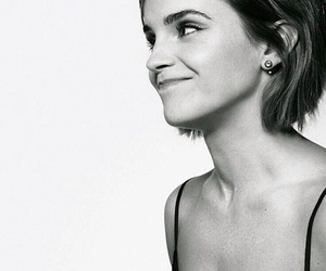 emma watson, actress, and black and white image