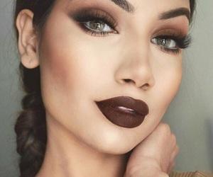 contour, eyelashes, and makeup image