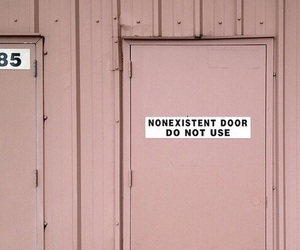 pink, door, and aesthetic image