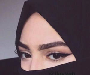 black, black eyes, and hijab girl image