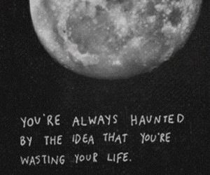 moon, quote, and grunge image