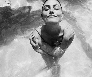 phoebe tonkin, model, and black and white image