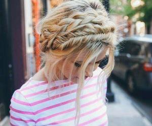 braid, braids, and girl image