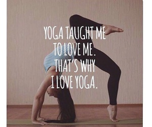 fitness, goals, and yoga image
