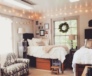 bedroom, room, and lights image