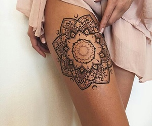 tattoo, mandala, and henna image