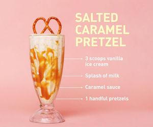 caramel, dessert, and drinks image