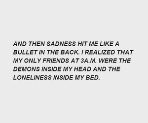 quote, demons, and loneliness image