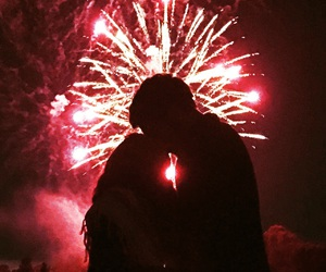 4th of july, fireworks, and Kiss Kiss image