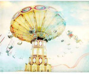 carnival, fun, and swings image