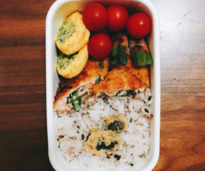 food, japanese food, and lunch box image