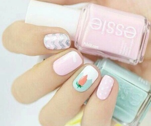 nails, pink, and essie image