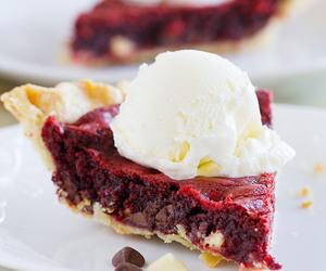 dessert, pie, and red velvet image